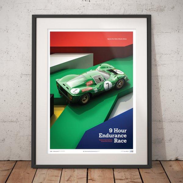 Ferrari 412P – Green – Kyalami 9 Hour – 1967 – Poster | Limited Edition