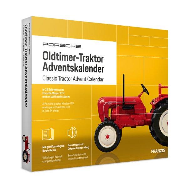 Porsche Oldtimer-tractor Advent calendar Franzis 1:43