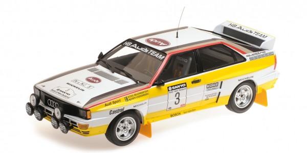 Audi Quattro Blomqvist/Cederberg Rallye New Zealand 1984 Minichamps 1:18