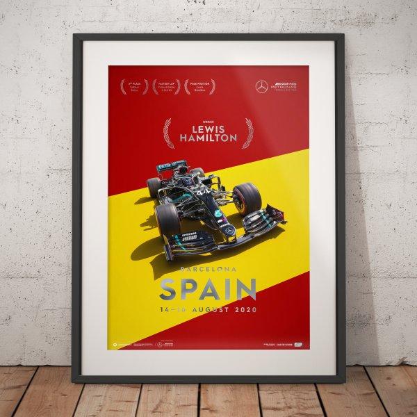 Mercedes-AMG Petronas F1 Team – Spain 2020 – Lewis Hamilton – Poster | Collector's Edition