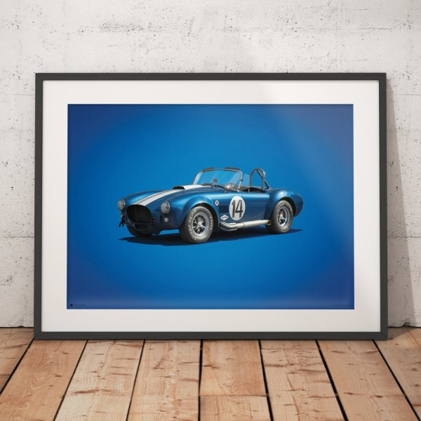 Shelby-Ford AC Cobra MK III – Blue – 1965 – Colors of Speed Poster