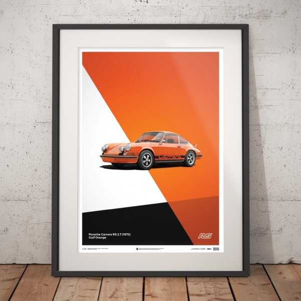 Porsche 911 RS – Orange – Poster | Limited Edition
