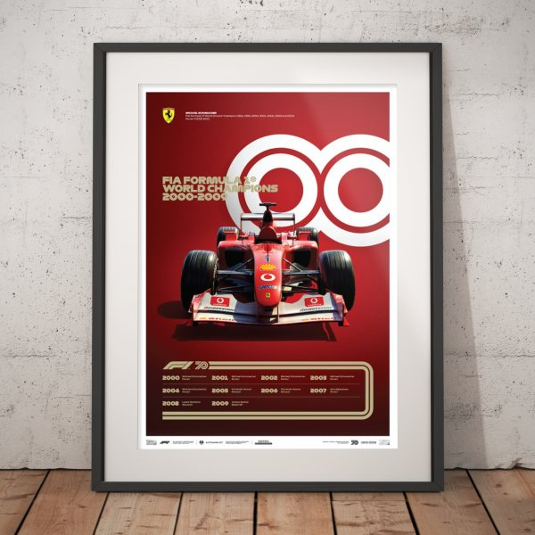 FORMULA 1® DECADES – 2000s Ferrari – Poster | Limited Edition