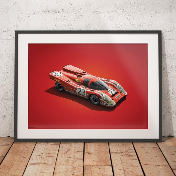 Porsche 917 – Salzburg – 24h Le Mans – 1970 – Colors of Speed Poster