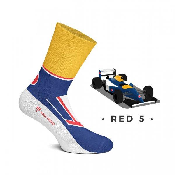 Heel Tread Socks – Red 5