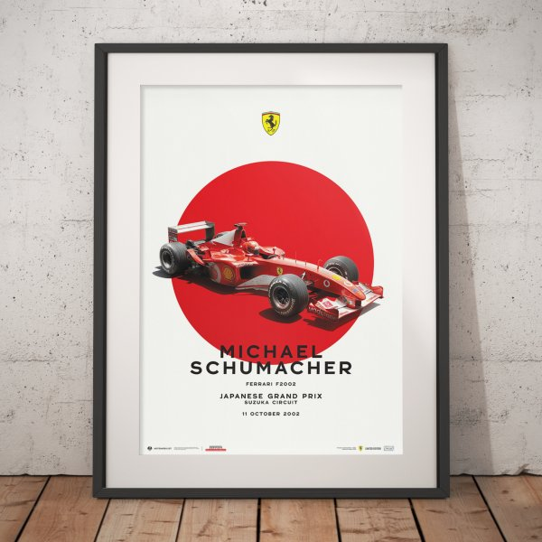 Ferrari F2002 – Michael Schumacher – Japanese Grand Prix – 2002 – Poster | Limited Edition