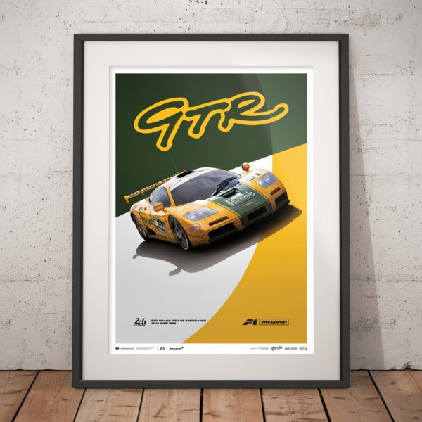 McLaren F1 GTR – Mach One Racing – 1995 – Poster   Limited Edition