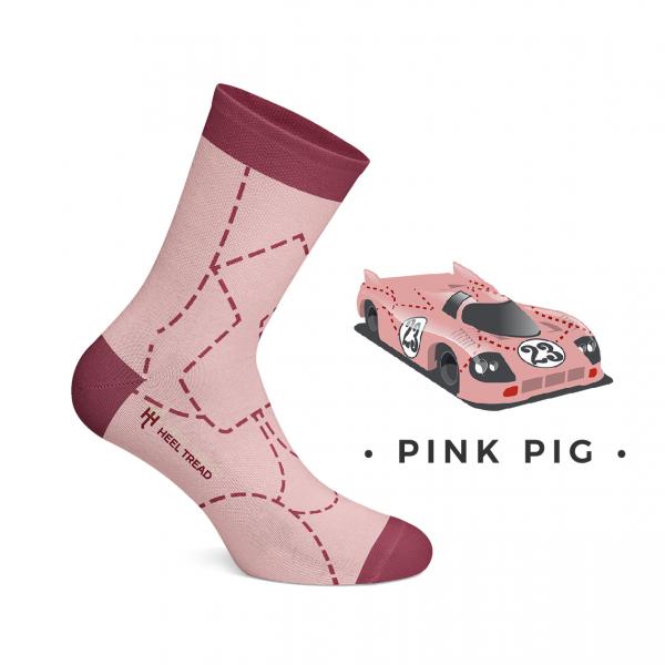 Heel Tread Socken – Pink Pig
