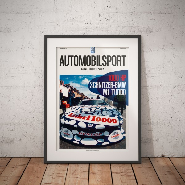 Poster AUTOMOBILSPORT #07 (2 sided) – Schnitzer BMW M1 Turbo