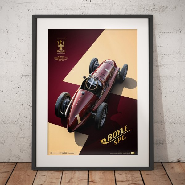 Maserati 8CTF – The Boyle Special – Indianapolis 500 Mile Race – 1940 – Poster | Collector's Edition