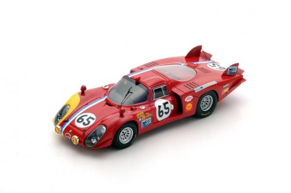 Alfa Romeo T33/2 Trosch/von Wendt 24h Le Mans 1968 Spark 1:43