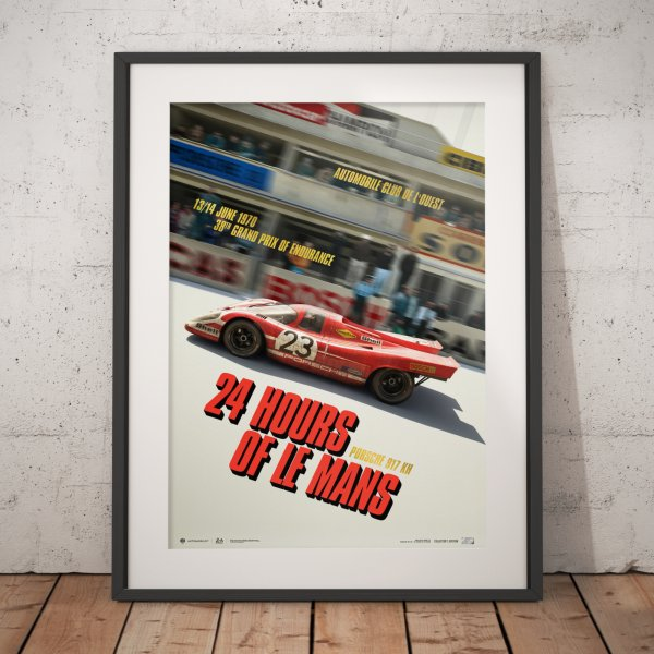 Porsche 917 KH – Past – 24h Le Mans – 1970 – Poster | Collector's Edition