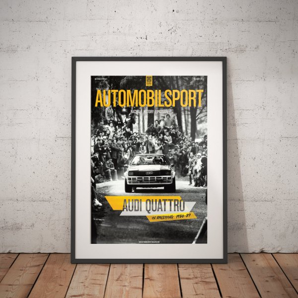 Poster AUTOMOBILSPORT #25 (2 sided) – Audi quattro 1982