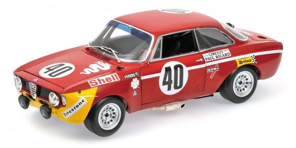 Alfa Romeo GTA 1300 Junior Picchi/Chasseuil Paul Ricard 1971 Minichamps 1:18