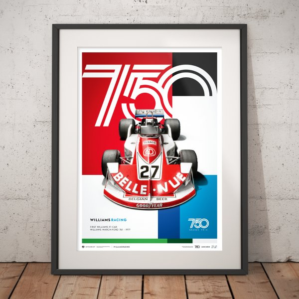 Williams Racing – March-Ford 761 – 1977 – Poster | Limited Edition