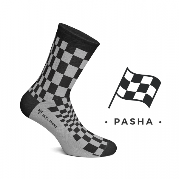 Heel Tread socks – Pasha black/grey