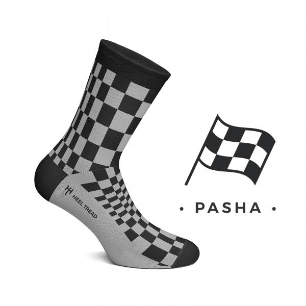 Heel Tread Socken – Pasha black/grey