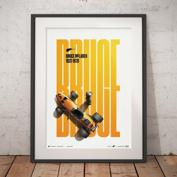McLaren Papaya – Bruce McLaren Special – Spa-Francorchamps – 1968 – Poster | Collector's Edition