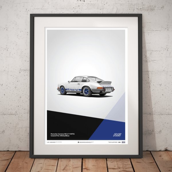 Porsche 911 RS – White – Poster | Limited Edition
