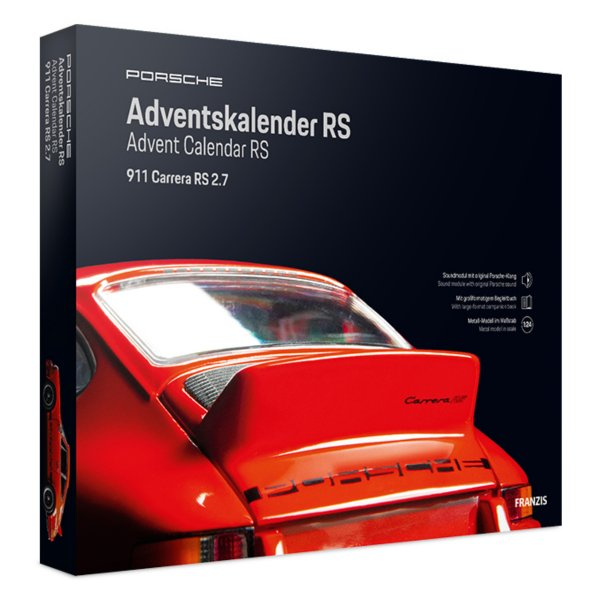 Porsche 911 Carrera RS 2.7 Adventskalender Franzis 1:24