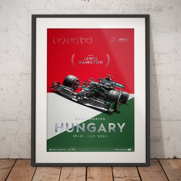 Mercedes-AMG Petronas F1 Team – Hungary 2020 – Lewis Hamilton – Poster   Collector's Edition