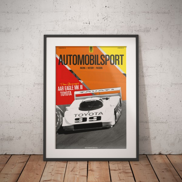 Poster AUTOMOBILSPORT #20 (2 sided) – AAR Eagle-Toyota MkIII