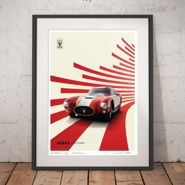 Maserati A6GCS Berlinetta 1954 – Red – Poster | Limited Edition
