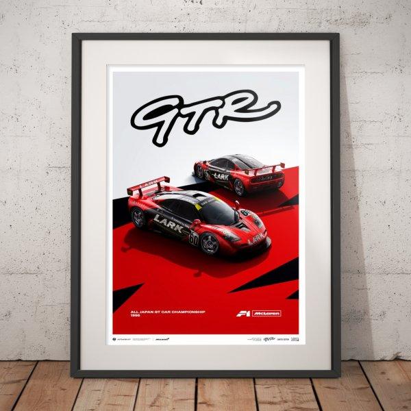 McLaren F1 GTR – Team LARK – 1996 – Poster   Limited Edition