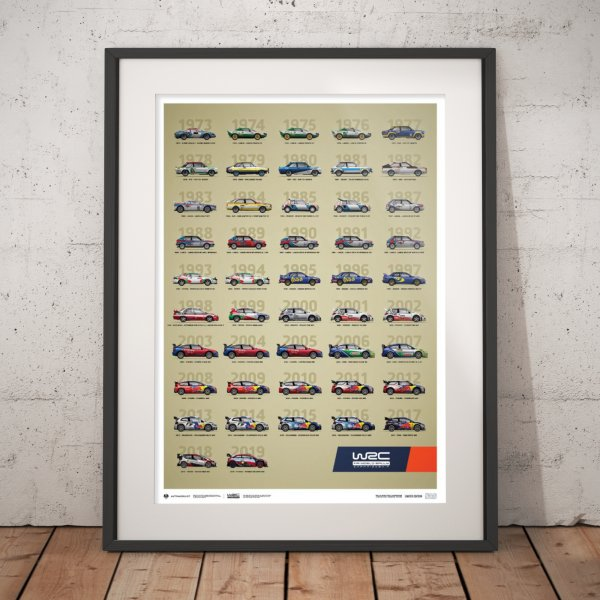 WRC Constructors' Champions 1973–2019 – 47th Anniversary – Poster | Limited Edition